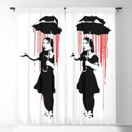 Rain Girl - Banksy, Umbrella Raining Streetart Street Art, Grafitti, Artwork, Design For Men, Women, Blackout Curtain