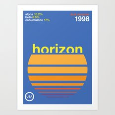 horizon//single hop Art Print