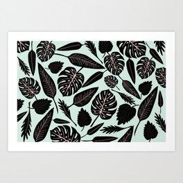 Blacked Leaves Art Print