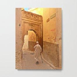 The Narrow streets of Fez, Morocco Metal Print
