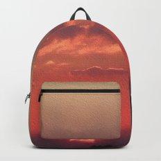 Sweet Pink Orange Sunset Backpacks