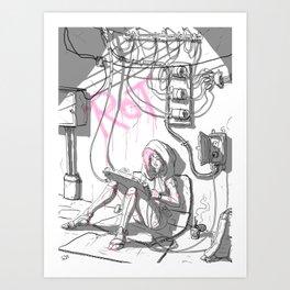 Cyber-Rot Art Print