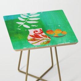 Fern & Peaches Still Life Side Table