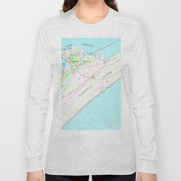 Vintage Map of Ocracoke North Carolina (1948) Long Sleeve T-shirt