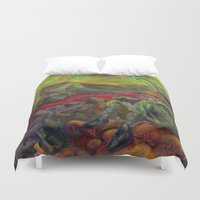 nietzsche Duvet Covers featuring and again and again nietzsche by hankhenry