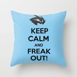Keep Calm and Freak Out Throw Pillow