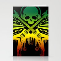 punk rock Stationery Cards featuring punk rock  by jhun21