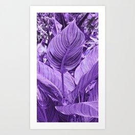 Alien plant Life Purple Art Print