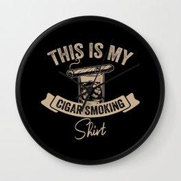 Cigar Lover Cuban Smoker Gift Wall Clock