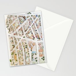 Greenwich Village Map by Harlem Sketches Stationery Cards