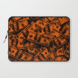 Orange Grunge Money Laptop Sleeve