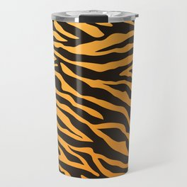 Tiger stripes animal print pattern Travel Mug