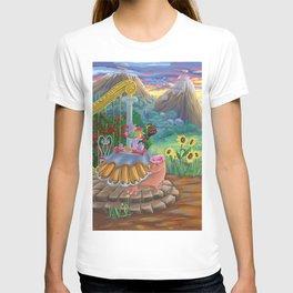 Large Fantasy Hand Painted Print 200x70cm T-shirt