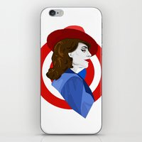 agent carter iPhone & iPod Skins featuring Agent Carter by fabulosaurus