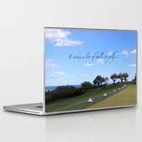 golf Laptop & iPad Skins featuring Golf by Rebecca Bear