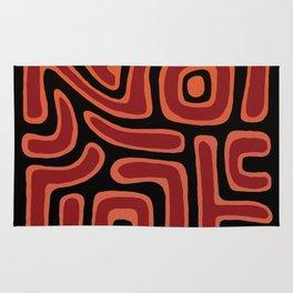 Tribal Maze II - Ember Rug