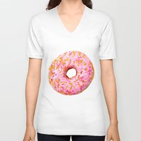 donut V-neck T-shirts featuring Donut  by Julia Nordlund