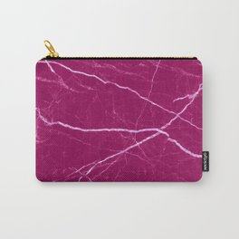 Magenta marble abstract texture pattern Carry-All Pouch