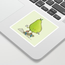 The Pear Skater Sticker