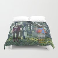 elk Duvet Covers featuring Elk by Mary Lo