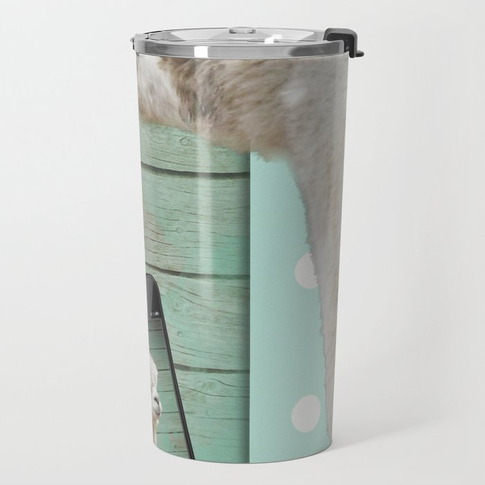 NEVER STOP EXPLORING - SELFIE Travel Mug