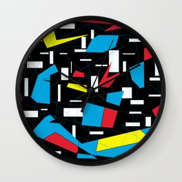 80s 90s geomeric vintage pattern Wall Clock