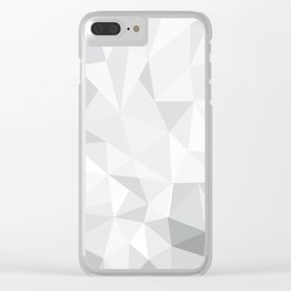 Pattern - Grey / Whte Clear iPhone Case