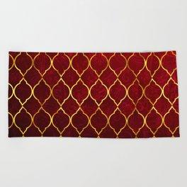 Moroccan Tile islamic pattern #society6 #decor #buyart #artprint Beach Towel