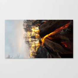 Fire prayers and setting suns Canvas Print