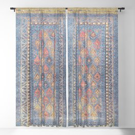 Baluch Balisht Khorasan Northeast Persian Bag Print Sheer Curtain