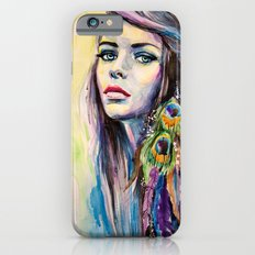 Peacock Girl iPhone 6s Slim Case