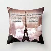 hemingway Throw Pillows featuring Ernest Hemingway by Dan99