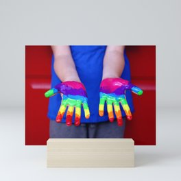 Rainbow Hands Mini Art Print