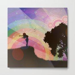 Freedom and rainbow Metal Print