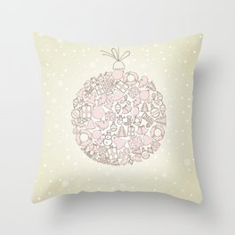 New Year sphere Throw Pillow
