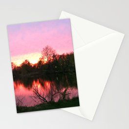Sunset on St. Mary's Lake Notre Dame Stationery Cards