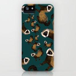Brave Polecat ( Mustela putorius ) iPhone Case