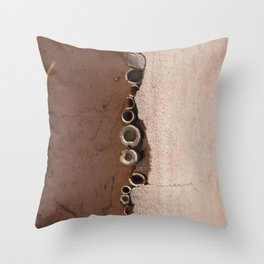 rotated rustic roof Throw Pillow