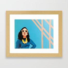 Sun Streaks and Sunglasses Framed Art Print