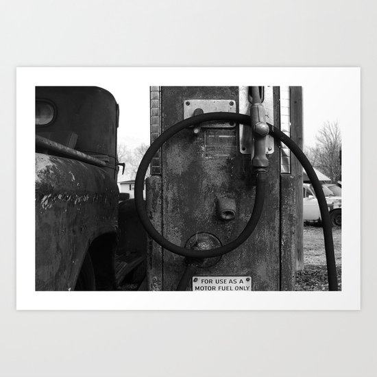 motor fuel only Art Print