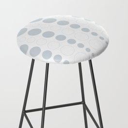 Up and down polka dot pattern in white and a pale icy gray Bar Stool