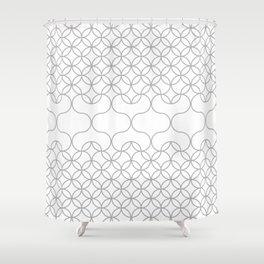 Hearts .neutral Shower Curtain