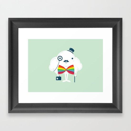 Rainbow-tie gentleman Framed Art Print
