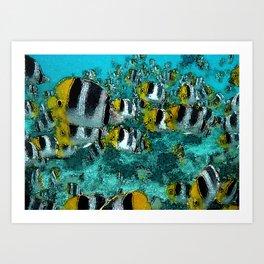 Tropical Fish Abstract Art Print