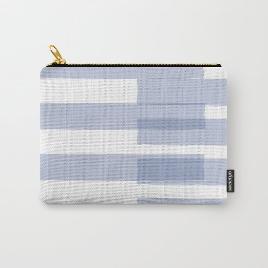 Big Stripes in Light Blue Carry-All Pouch