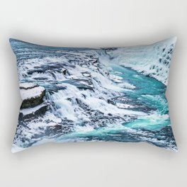 Gulfoss Waterfall Iceland Rectangular Pillow