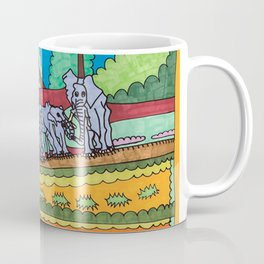 Elephant Gathering Coffee Mug