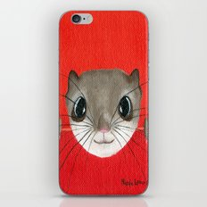 Cute baby Squirrel Bright Bold Colors Childrens decor Nursery Art iPhone & iPod Skin