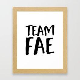 Team Fae Framed Art Print