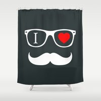 hipster Shower Curtains featuring Hipster by Hipster